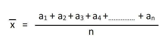 Arithmetic Mean Formula