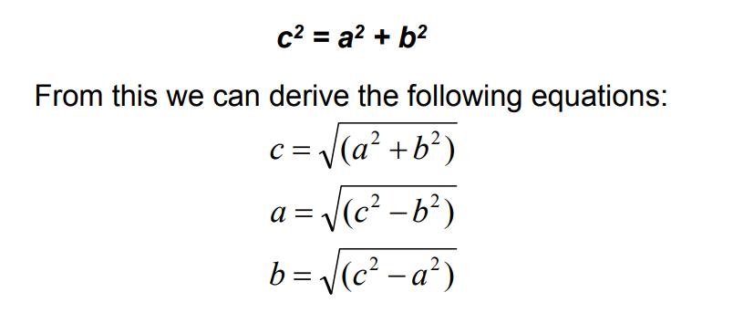 hypotenuse formula